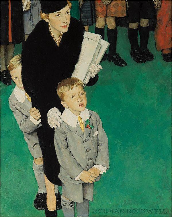 諾曼.洛克威爾(Norman Rockwell)的兩幅畫作不僅展示其優秀敘事能力,更展開了三位卓越 美國創作人之間的跨代對話。