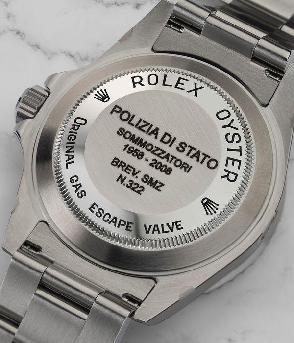 """Lot 242 Rolex Sea-Dweller """"Polipetto"""" Back"""
