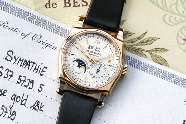 Lot 890 Roger Dubuis Sympathie Perpetual Calendar in pink gold