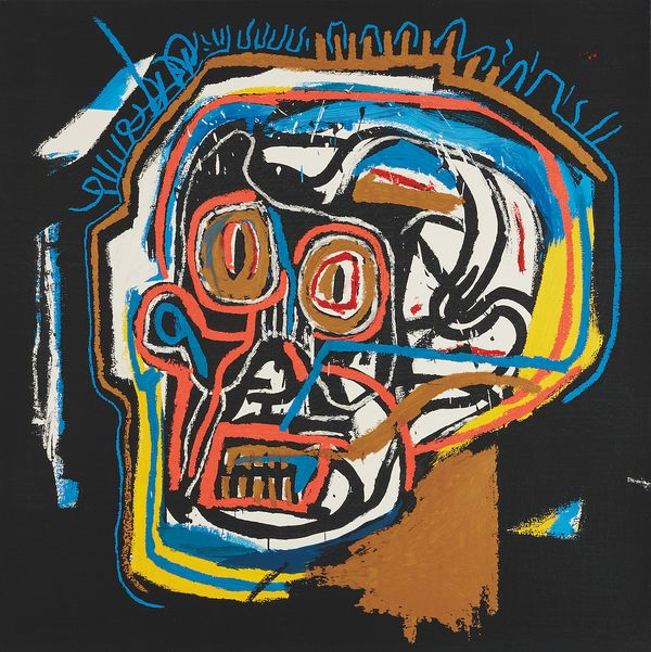 'Portfolio I' epitomizes Basquiat's signature style and his ability to capture the tenor of modern society.