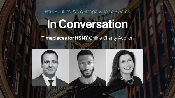 Phillips in Association with Bacs & Russo is honored to partner with the Horological Society of New York to present Timepieces for HSNY: Online Charity Auction from June 7-14, 2021. The sale will feature seven timepieces, presented here by Aldis Hodge, Tania Edwards and Paul Boutros.