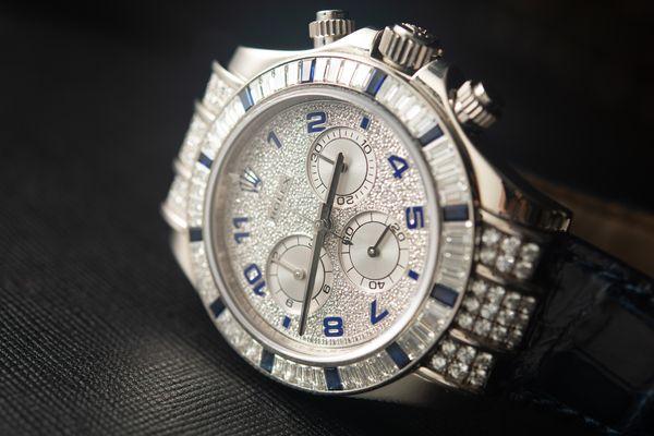Lot 173 Rolex Daytona Baguette Sapphire