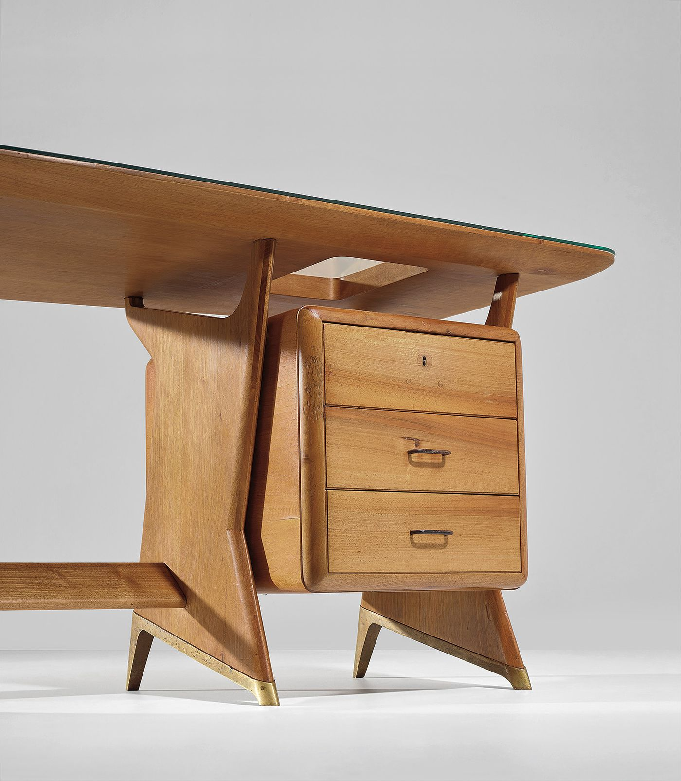 Gio Ponti scholar Brian Kish explains the history behind an executive desk of grand scale with playful tectonic elements.