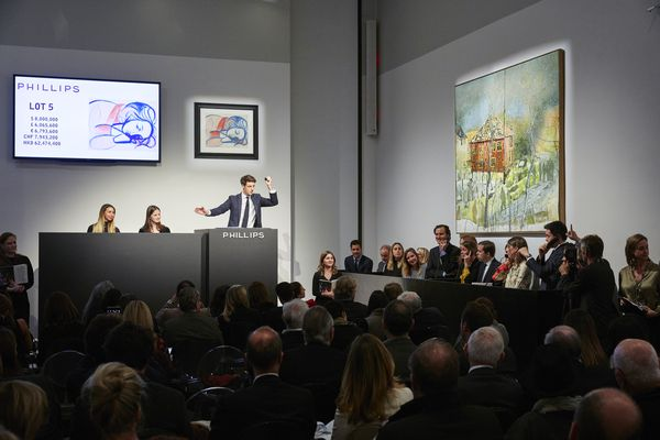 A blockbuster New York Evening Sale of 20th Century & Contemporary Art sees new world auction records for Carmen Herrera and Hélio Oiticica with an important Pablo Picasso drawing selling for nine times its estimate.