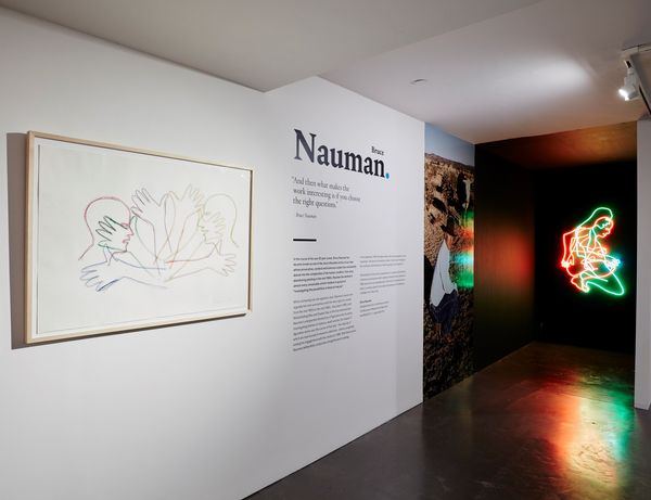 Coinciding with the highly acclaimed exhibition 'Bruce Nauman: Disappearing Acts' at MoMA, Phillips presents early works on paper by the artist alongside a major figurative neon.