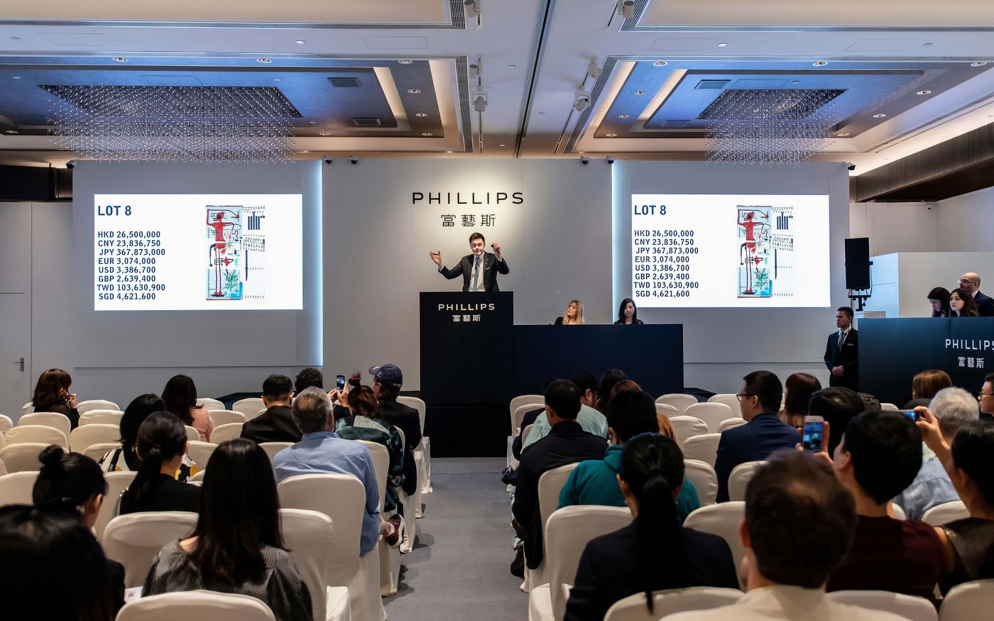 With feverish bidding and eight new artist records, Phillips achieved the highest-ever total for a 20th Century & Contemporary Art & Design auction series staged in Asia.