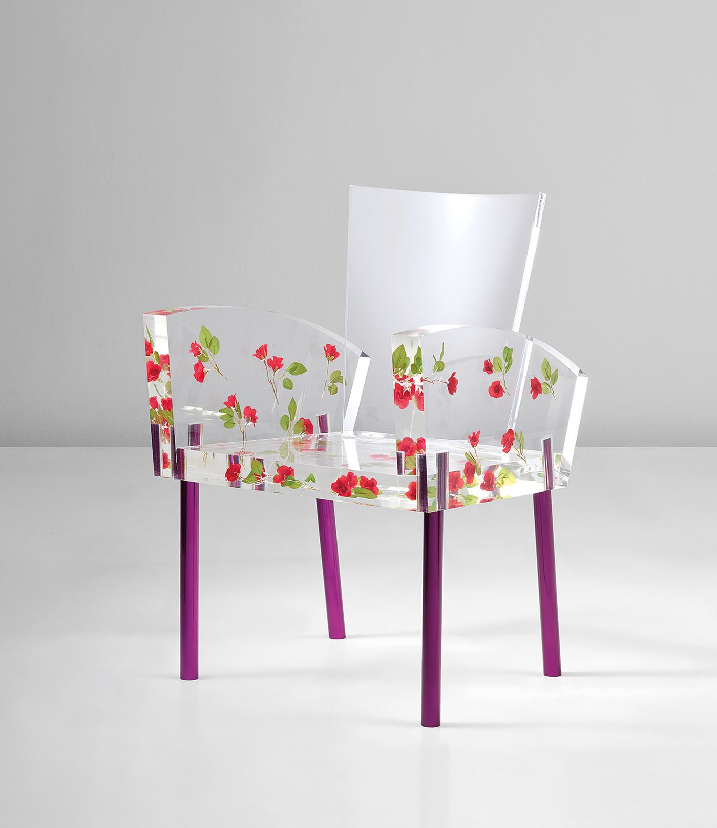 An homage to Miss Blanche DuBois, the heroine in Tennessee Williams' 'A Streetcar Named Desire,' the present chair has become one of the most iconic designs in Shiro Kuramata's oeuvre.