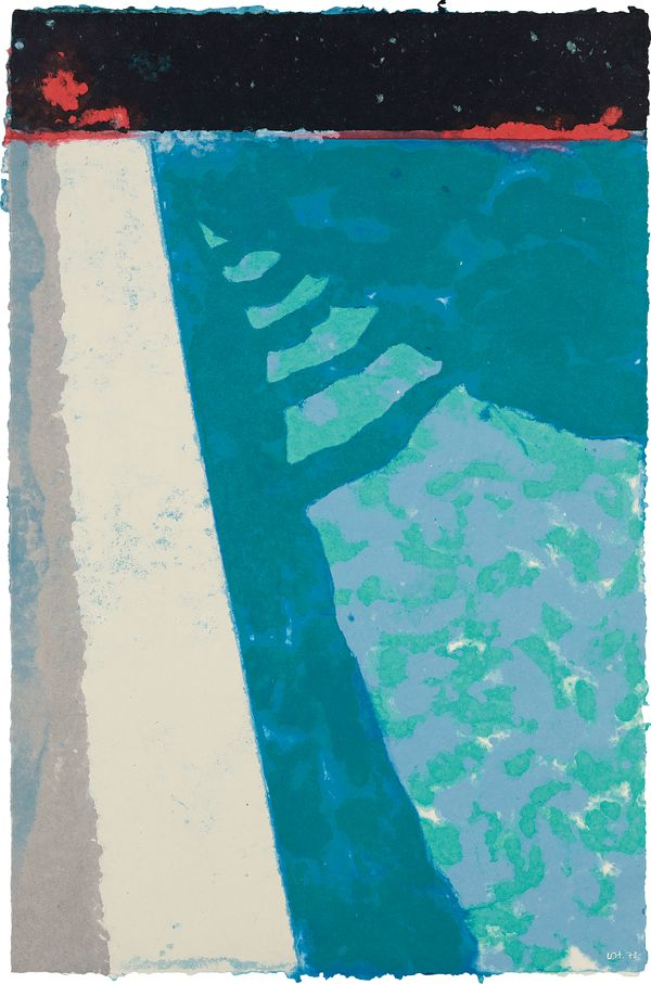 In the late 1970s, David Hockney began experimenting with the unconventional paper pulp medium in an attempt to capture the subtle hues of shimmering light on water. Author Marco Livingstone reveals the resulting group of works, featuring saturated colours and iridescent surfaces.