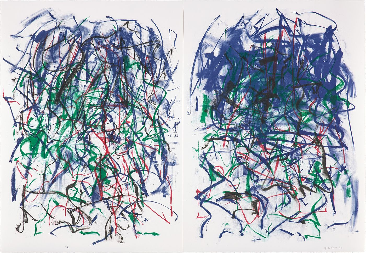 New York painter Joan Mitchell was also a master printmaker, as demonstrated by her work with Kenneth Tyler of Tyler Graphics in the 1980s and '90s. We review her expressive, colorful lithographs from our upcoming Editions sale.