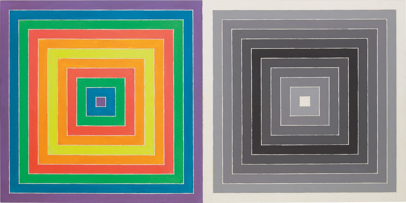 In the 1960s, Stella's style underwent a key transition as he introduced a wider spectrum of color into his previously monochrome oeuvre.