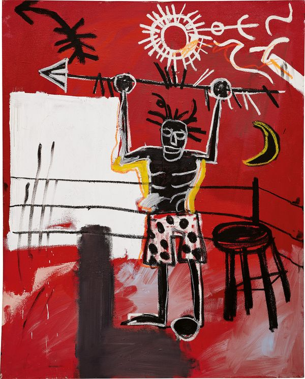 Painted at the height of his short career, a work laden with symbolism recalls the artist's past, present and future.