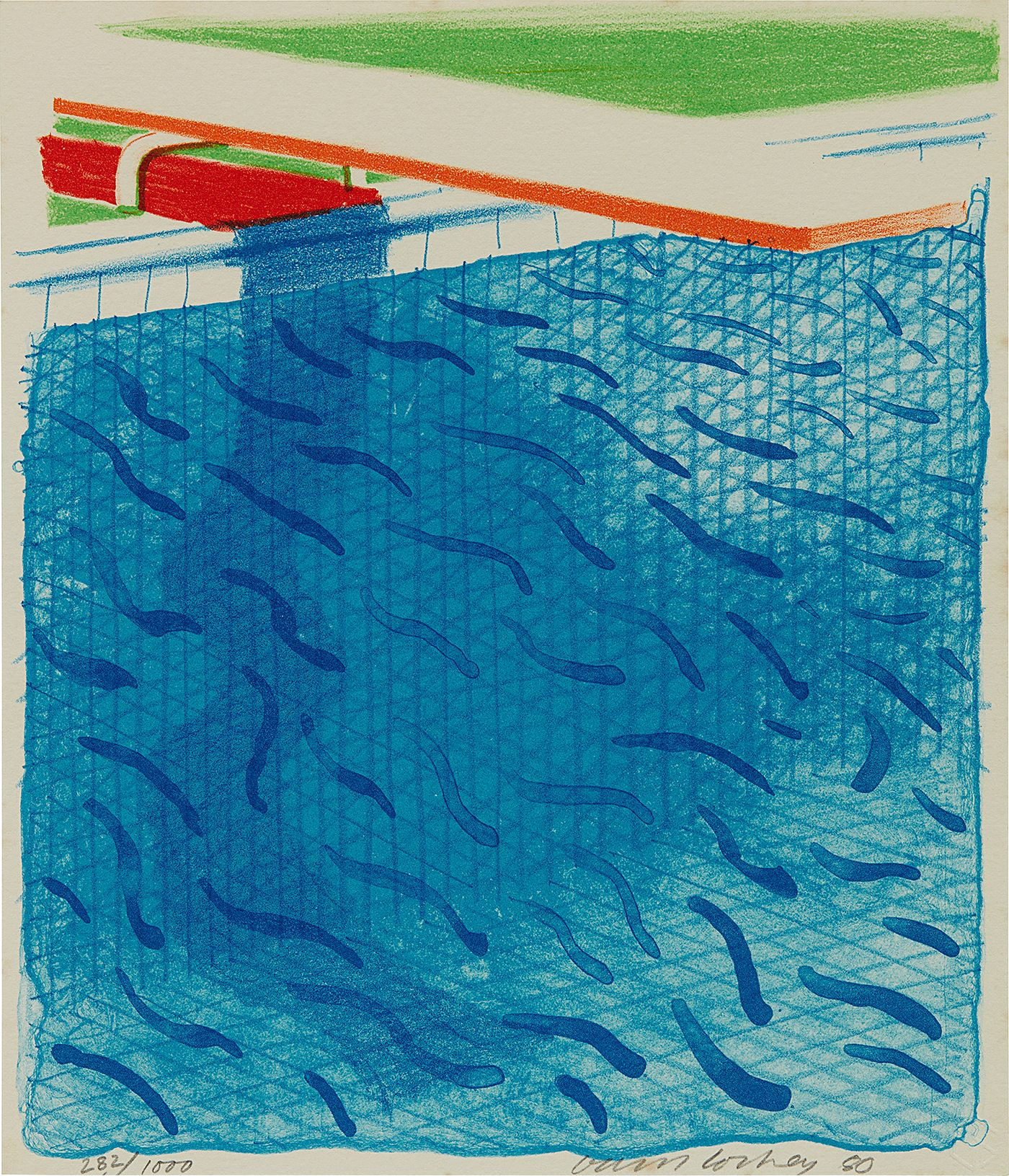 Phillips going off the deep end david hockney 39 s paper pools - David hockney swimming pool paintings ...