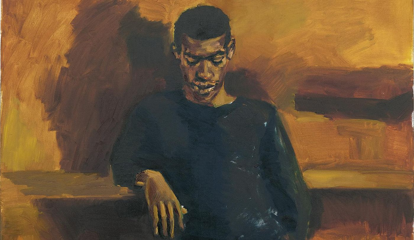 """""""When I think of the figure, I think of immortality or an otherness that is just out of this world, representing an endless possibility,"""" says the British painter of her own work. Preview a stunningly tall 2015 portrait from our London Evening Sale."""
