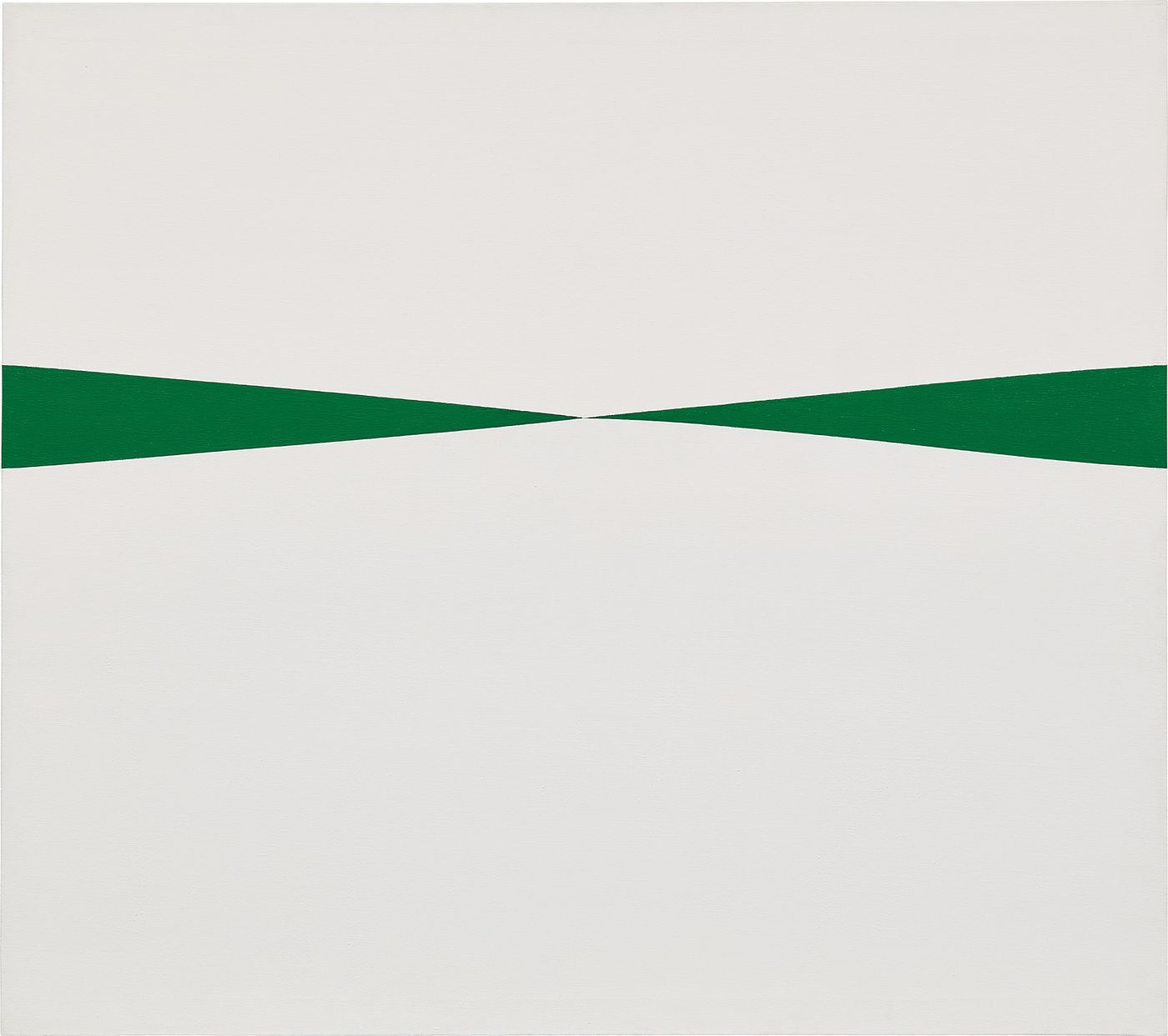 One of only 14 known versions of Carmen Herrera's 'Blanco y Verde' series, the work coming to auction this November remained in obscurity for over four decades, carefully selected by the artist to remain in her small home studio in New York.