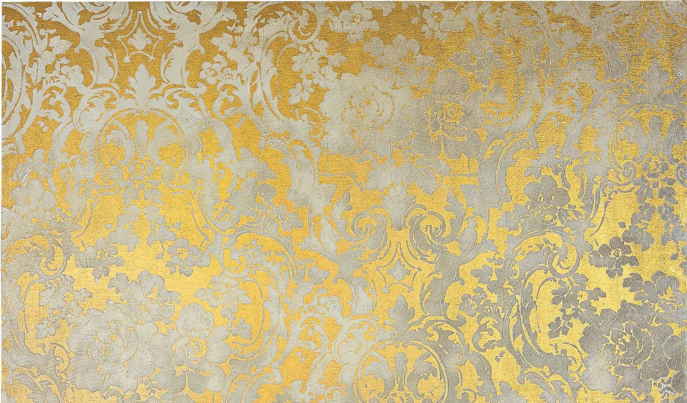Our specialists reveal the inspiration and complexity behind 'Untitled' (2007), a mesmeric wallpaper painting that recalls Rococo-era patterns and Warhol-style methodologies.
