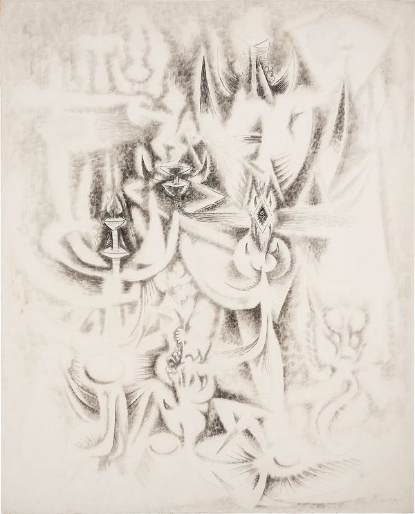Through 'Sur les traces', 1945, Abigail McEwen looks at the nuanced cross-cultural influences—including Santería and Chinese ink wash painting—that informed Lam's practice throughout the 20th century.