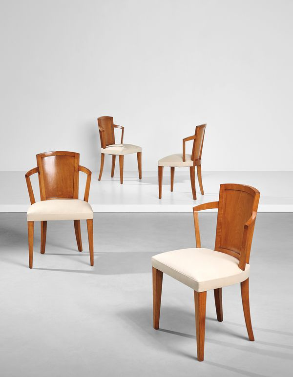 Pierre Chareau Set of four armchairs, model no. MF 275, circa 1924