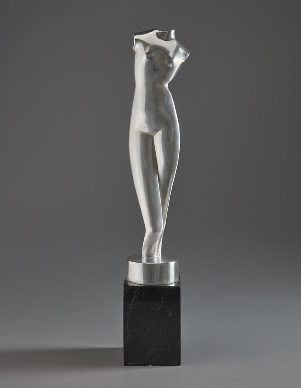 From New York's Museum of Modern Art and sold to benefit its acquisitions fund, Archipenko's 'White Torso' is a gleaming, silvered testament to the artist's simultaneously innovative and referential approach to modern sculpture.
