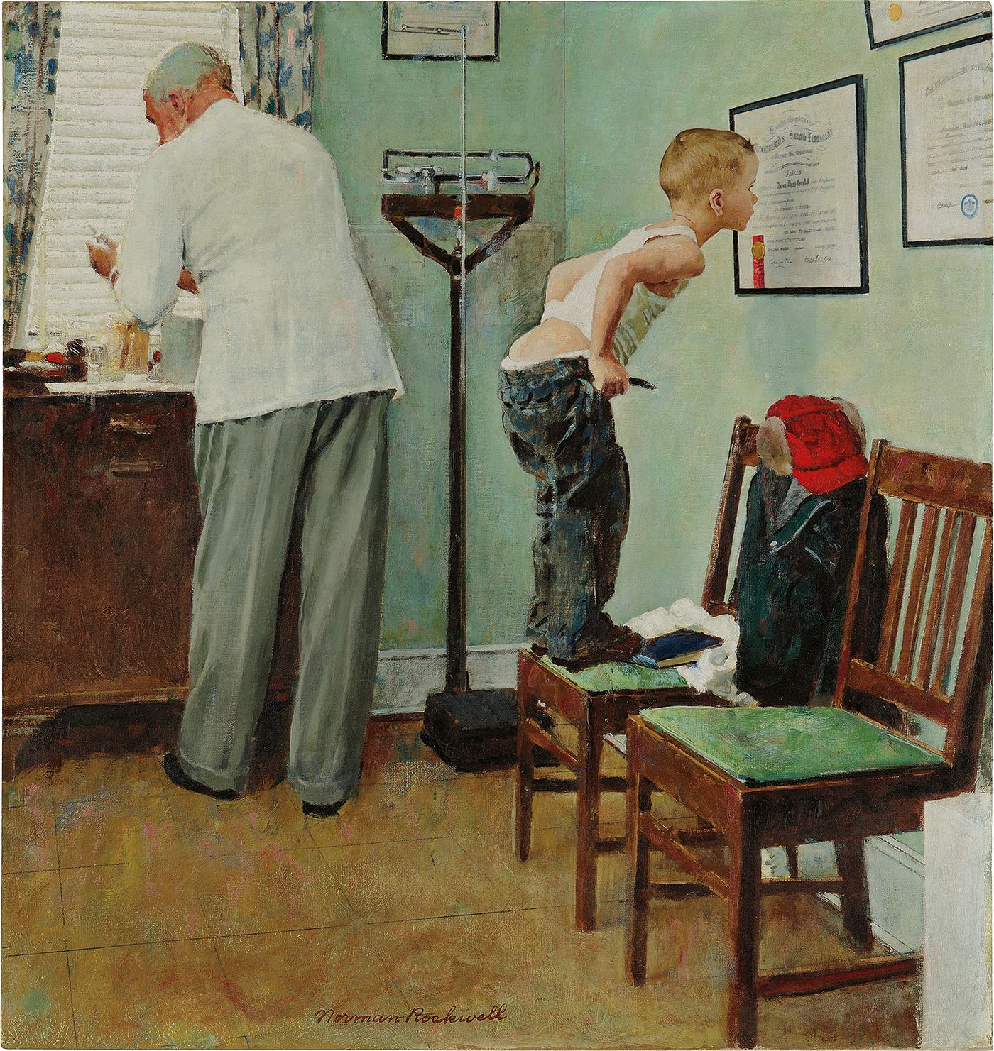 As one of the American master's most iconic images comes to auction, we look at depictions of a day at the doctor's office from various eras of art history.