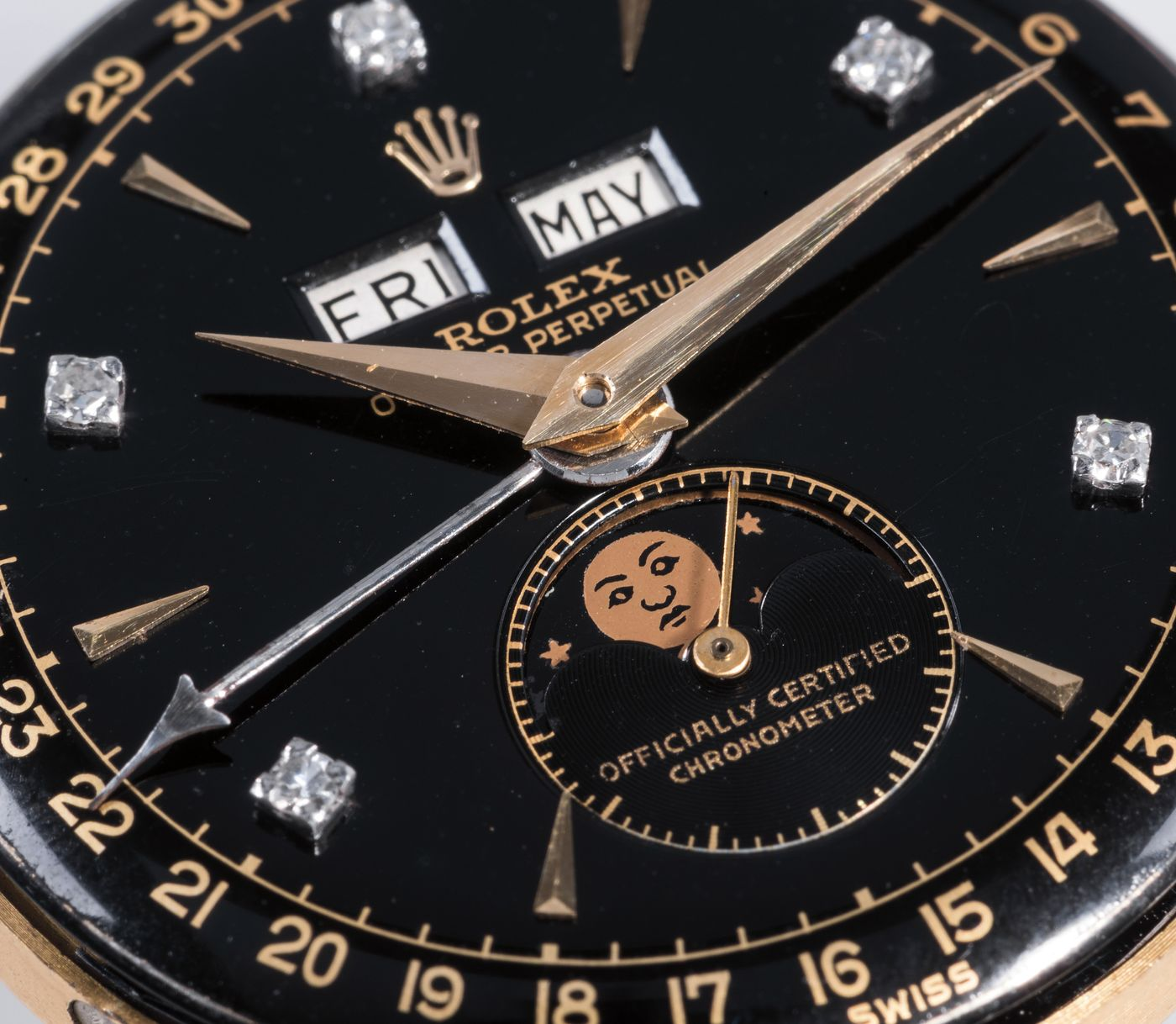 Returning to auction this May: A world-famous, diamond-encrusted Rolex 6062 was commissioned directly by the last Emperor of Vietnam, known as the Bao Dai (or Keeper of Greatness), in 1954 Geneva.