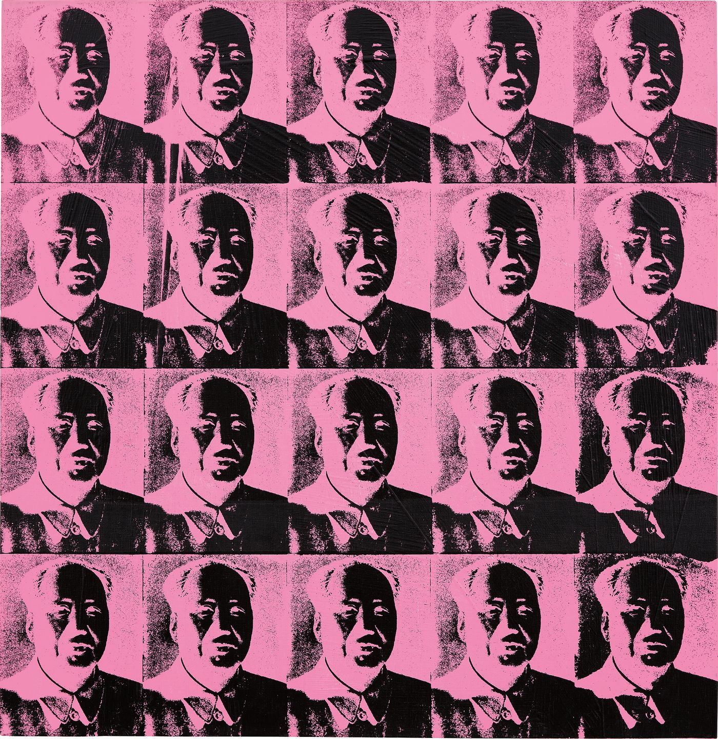 Thought to be among his rarest and most significant works, Warhol'sReversals of Chairman Mao demonstrate ashrewd recalculation of one of the world's mostubiquitous portraits.