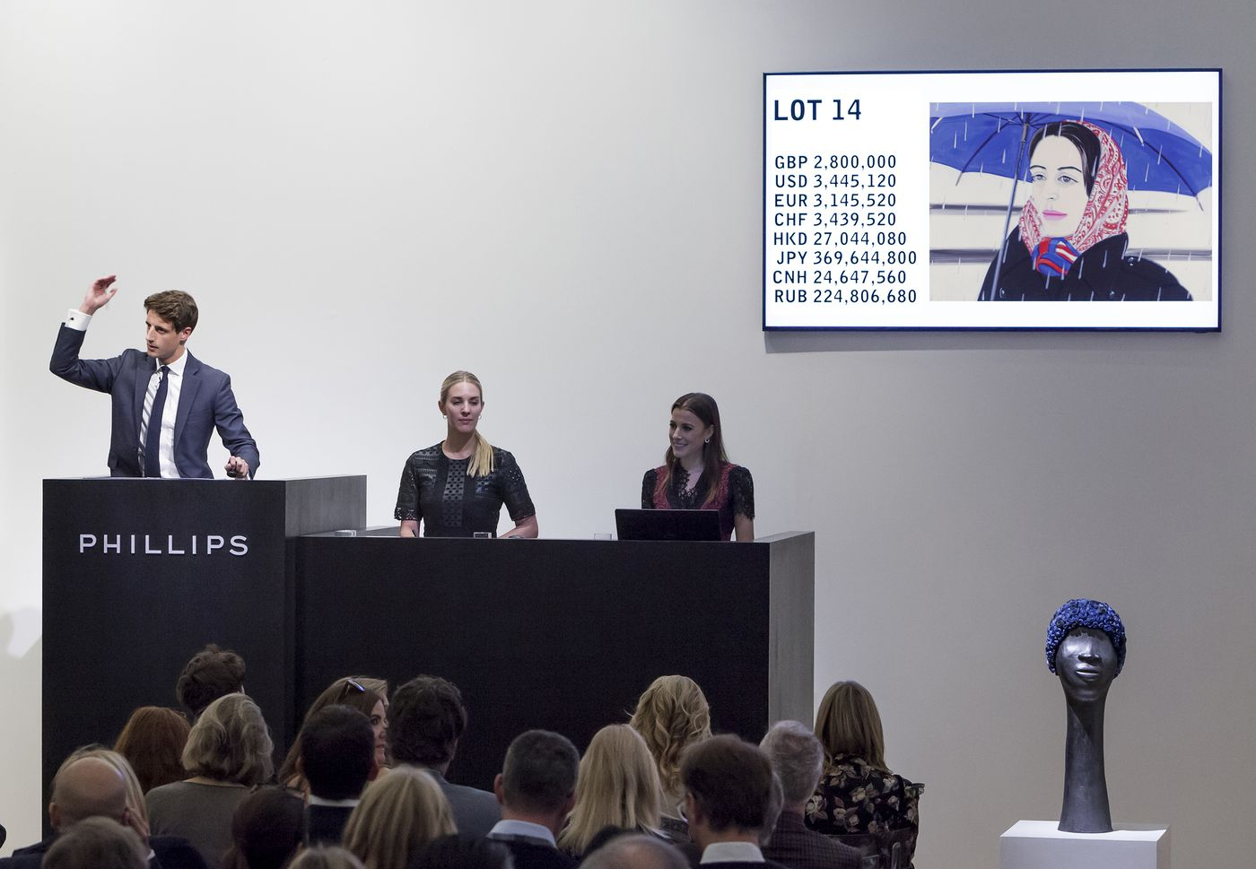 Offering strong contemporary works with international caché, Phillips realizes over £35 million across Evening and Day Sales.