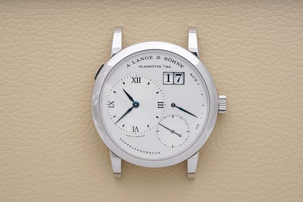 """It's the rarest Lange 1. Experts estimate that less than 30 were made. Now Phillips is offering a """"New Old Stock"""" Lange 1 in stainless steel that has never, ever been worn. It hasn't even been fitted with a strap, yet."""