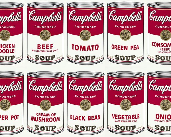 Andy Warhol, as it so happens, ate soup for lunch every day.