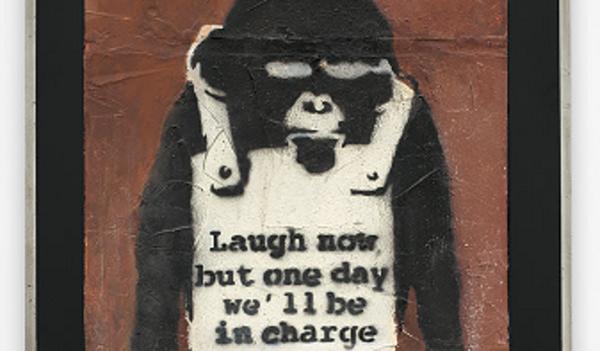 班克斯作品《笑在當下 層板A》將亮相二十世紀及當代藝術晚間拍賣,成為富藝斯在亞洲首件接受買家以虛擬貨幣交易的拍品。