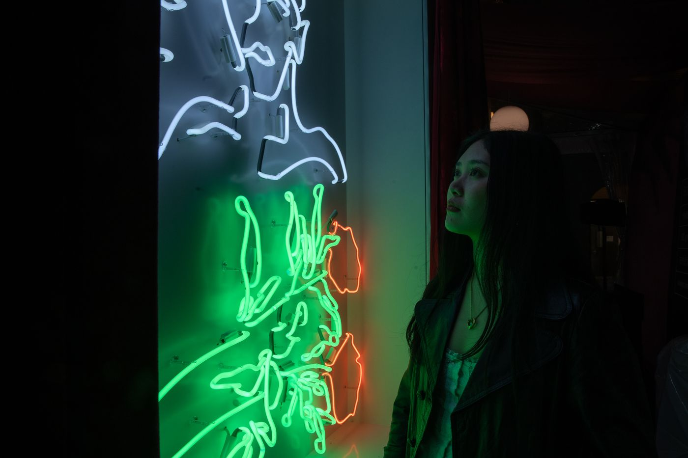 We sat down with the British painter to find out more about her recently commissioned work for the British Council of Hong Kong's SPARK Festival, her first foray into working with neon.