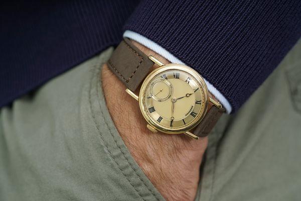 Breguet N°3229 wristwatch in yellow gold