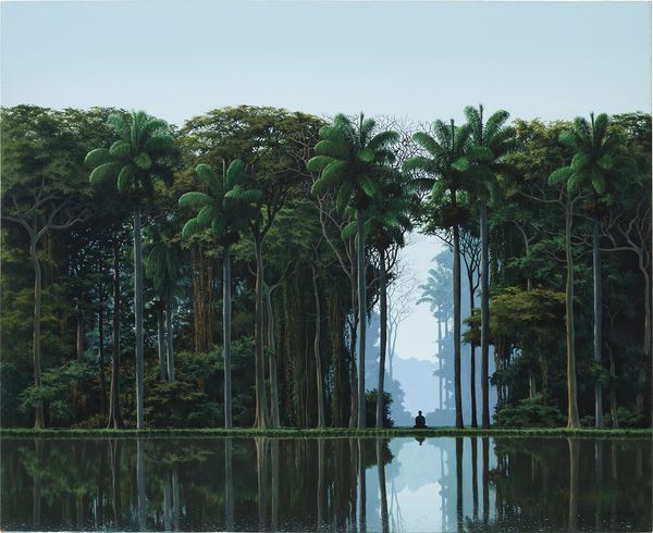 Channeling diverse art historical precedents such as Casper David Friedrich and the Hudson River School, Sánchez presents a landscape of the mind – one that transcends geographical specificity in favor of a spiritual, imaginary place.