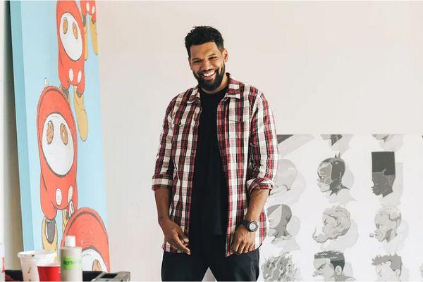 芝加哥塗鴉藝術家荷布洛·布蘭特利(Hebru Brantley)與香港大學藝術學系的Derek Collins詳談藝術和創作路上的重要啟發。