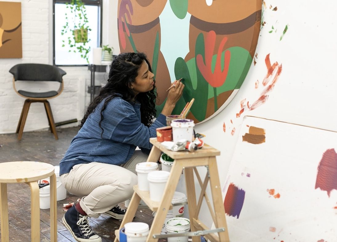 We caught up with the New York City-based artist who spoke to us about her upcoming solo show this summer, the use of nature within her paintings and the importance of having a sense of self.