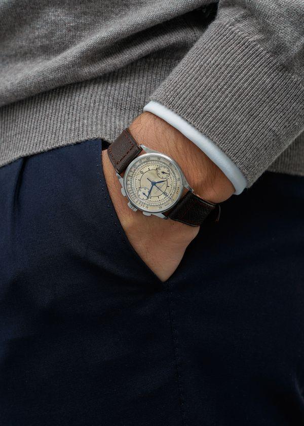 Lot N° 146 - Patek Philippe, Ref. 130 chronograph in stainless steel