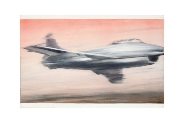 Gerhard Richter's 1963 painting of a warplane taps into a heady and complex combination of excitement and terror - while providing a deadpan response to the changing times.