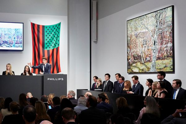 A blockbuster Evening Sale with 100% of lots sold saw new auction records for Peter Doig and Roy Lichtenstein, while our Day Sale achieved its highest total in the company's history.