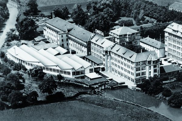 The Omega manufacture in the early 1950s.