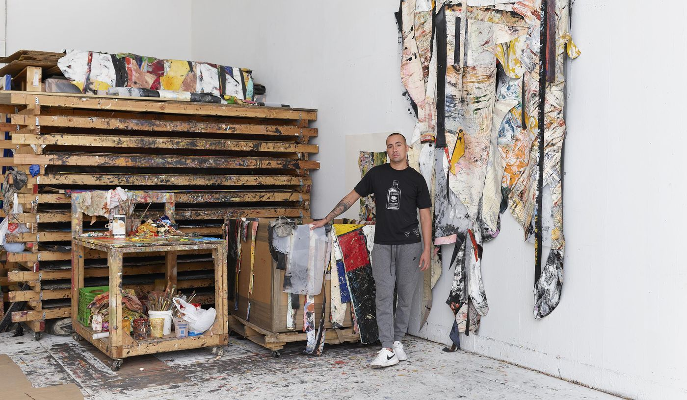 The New York-based artist lets us into his studio and tells us how sheltering-in-place has proven to be positive for his mind and practice.