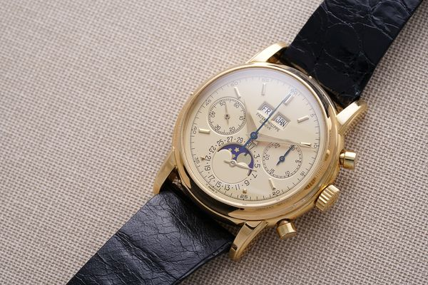 Patek Philippe reference 2499 with champagne dial Phillips