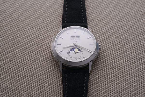 Only two Patek Philippe Reference 3448 were ever cased in platinum, long after the model was discontinued.