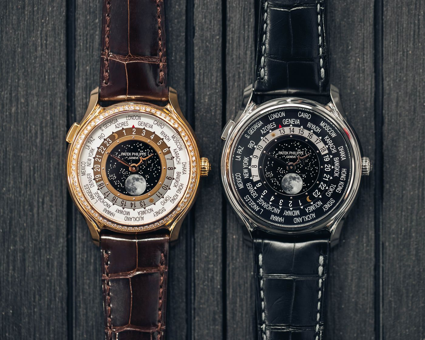 PHILLIPS Perpetual is proud to present a pair of limited edition Patek Philippe world timers among its latest arrivals. Made to commemorate the brand's 175th anniversary, the two watches are offered in like new condition and can be viewed in London at 30 Berkeley Square.