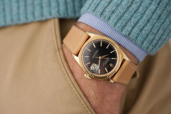 Rolex Datejust in pink gold