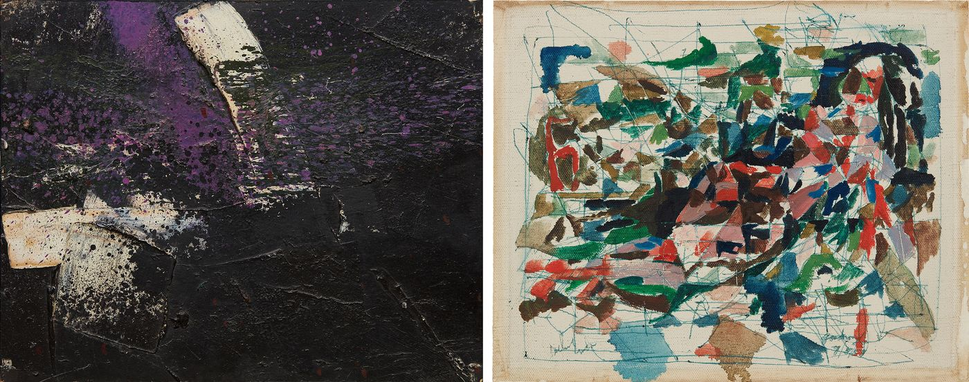 Katherine Lukacher, Head of Online Sales, juxtaposes two abstract oil works by artists who played a prominent role in the famed 'Ninth Street Show'.