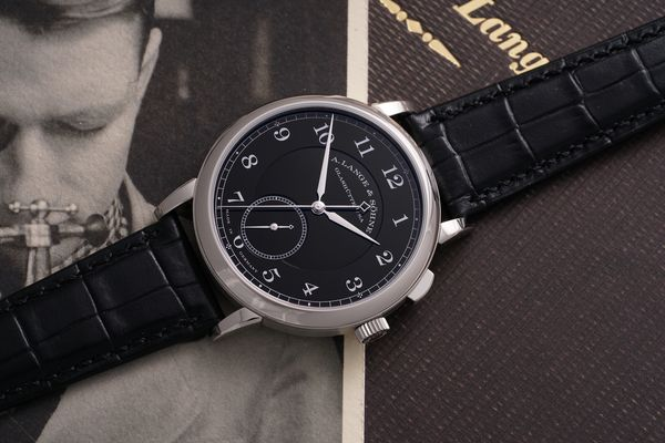 unique A. Lange & Sohne 1815 'Homage To Walter Lange' in stainless steel Phillips