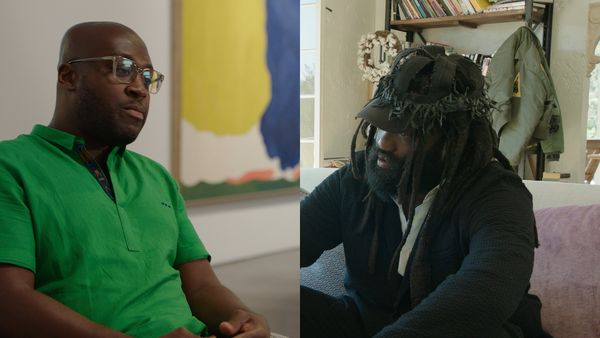 We invited Larry Ossei-Mensah, curator and cultural critic, and Tremaine Emory, artist, brand director and designer behind Denim Tears, to participate in a discussion about some of their favorite works from our upcoming 20th Century & Contemporary Art auctions.