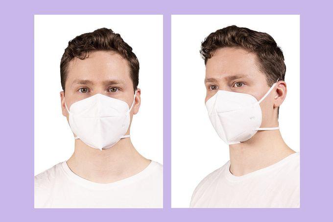 Kertakäyttöinen korkeimman tason kirurginen hengityssuojain istuu kasvoille tiiviisti ja mukavasti.
