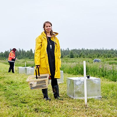 Luonnonvarakeskuksen tutkija Hanna Kekkonen