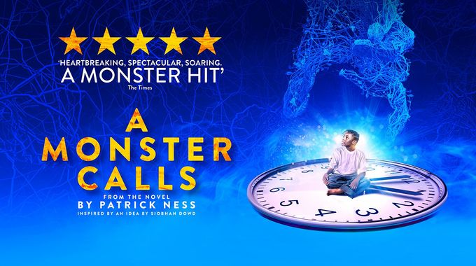 atheatre poster for A Monster Calls, a play performed at Sheffield Theatres in Sheffield City Centre