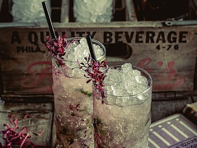 Two glasses of mocktails served as part of dry january at the botanist in sheffield city centre